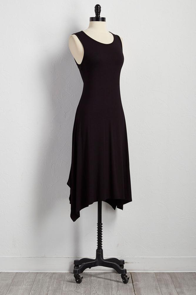 Drawstring Cutout Back Sharkbite Dress