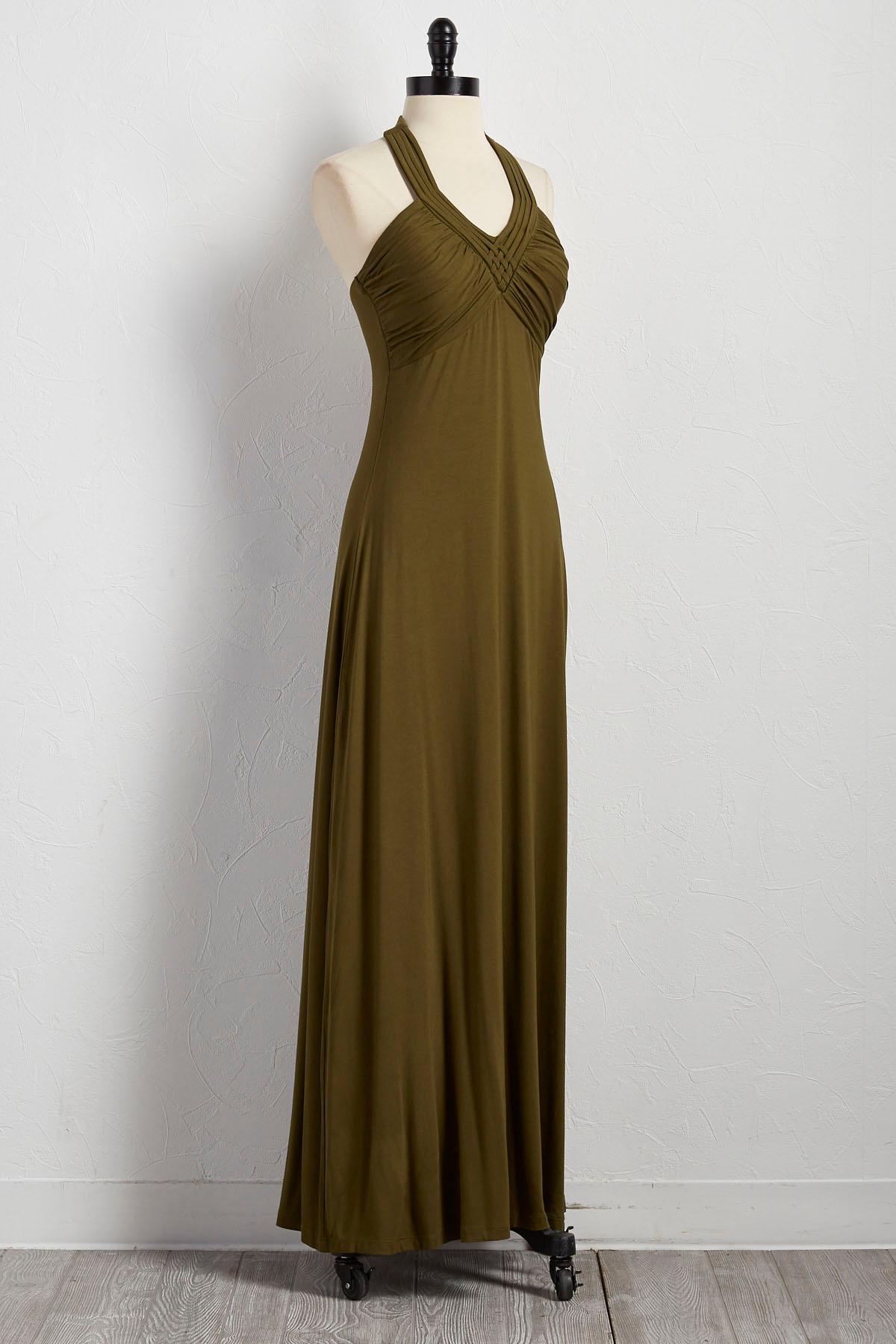 Knit Halter Maxi Dress