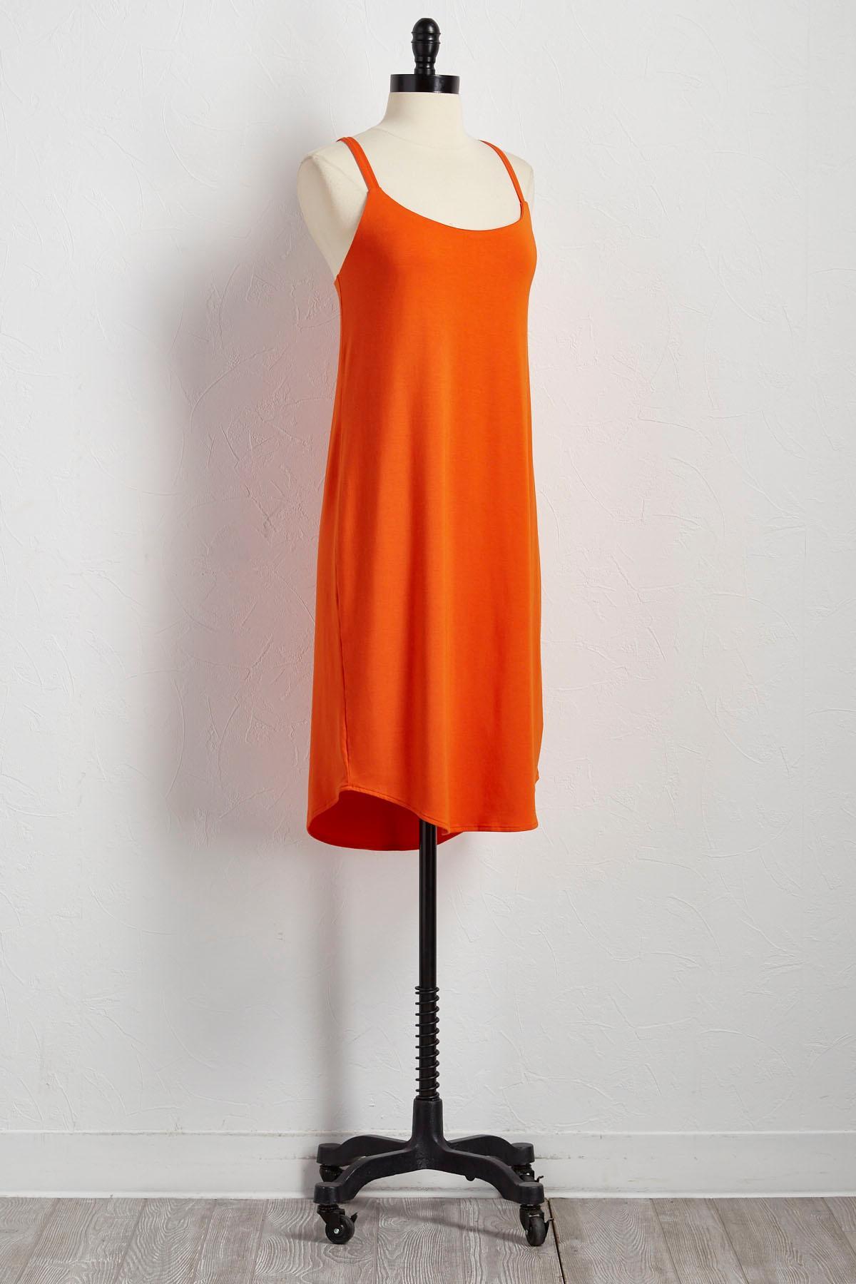 Criss Cross Back Slip Dress