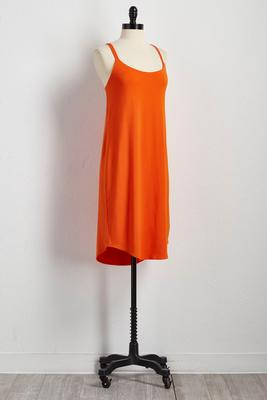 criss cross back slip dress