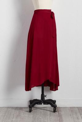 gauze tie waist wrap maxi skirt