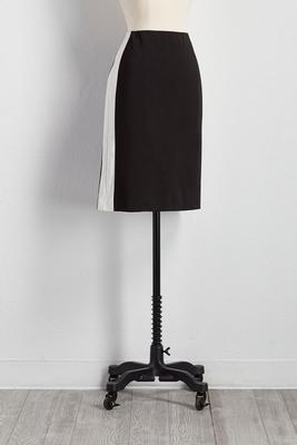 colorblock striped pencil skirt