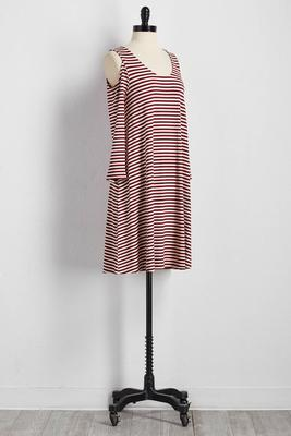 striped bare shoulder t-shirt dress