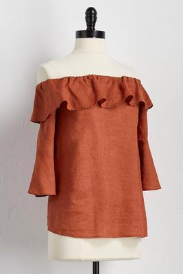 linen off the shoulder top