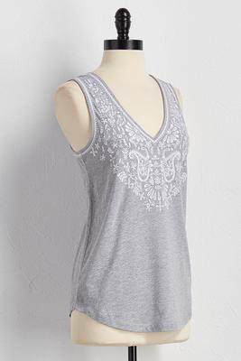 paisley embroidered tank