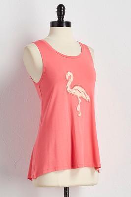 flamingo patch tank