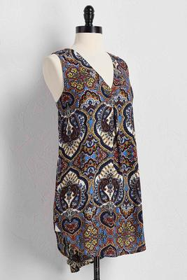 paisley high-low tunic