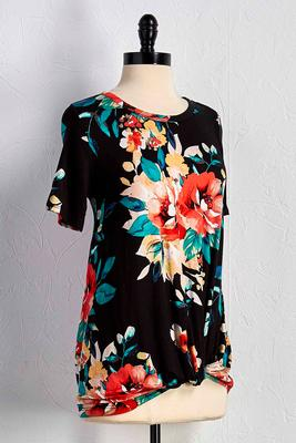 floral front knot tee
