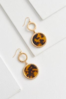 tortoise shell dangle earrings