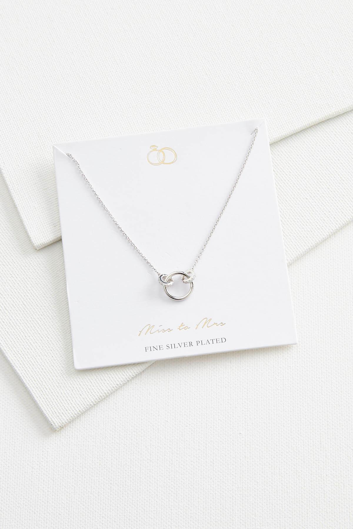 Miss To Mrs Pendant Necklace