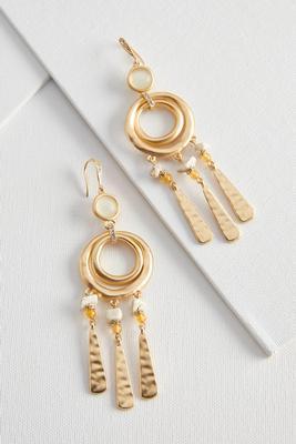 semi-precious dangle earrings