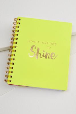 time to shine spiral notebook