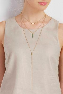 layered y-neck choker