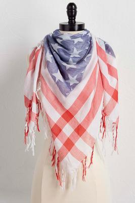 american flag square scarf