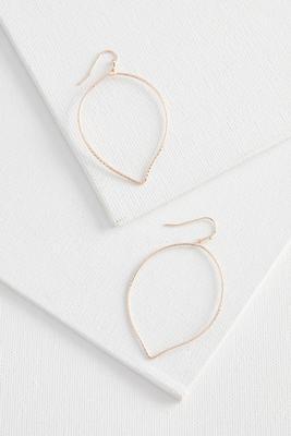 textured petal hoop earrings