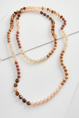 mixed natural bead wrap necklace