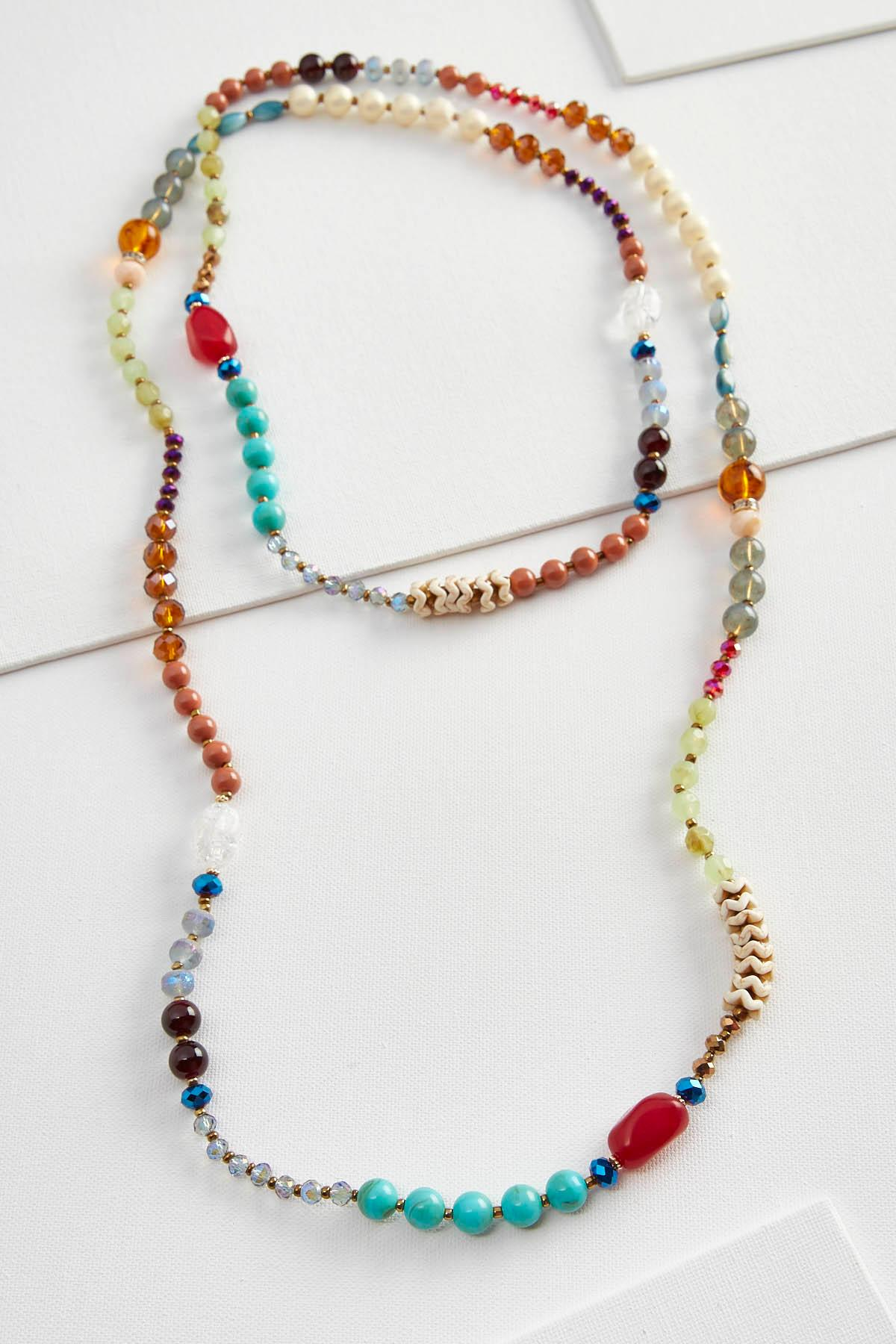 Mixed Bead Wrap Necklace