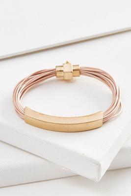 metal bar cord bracelet