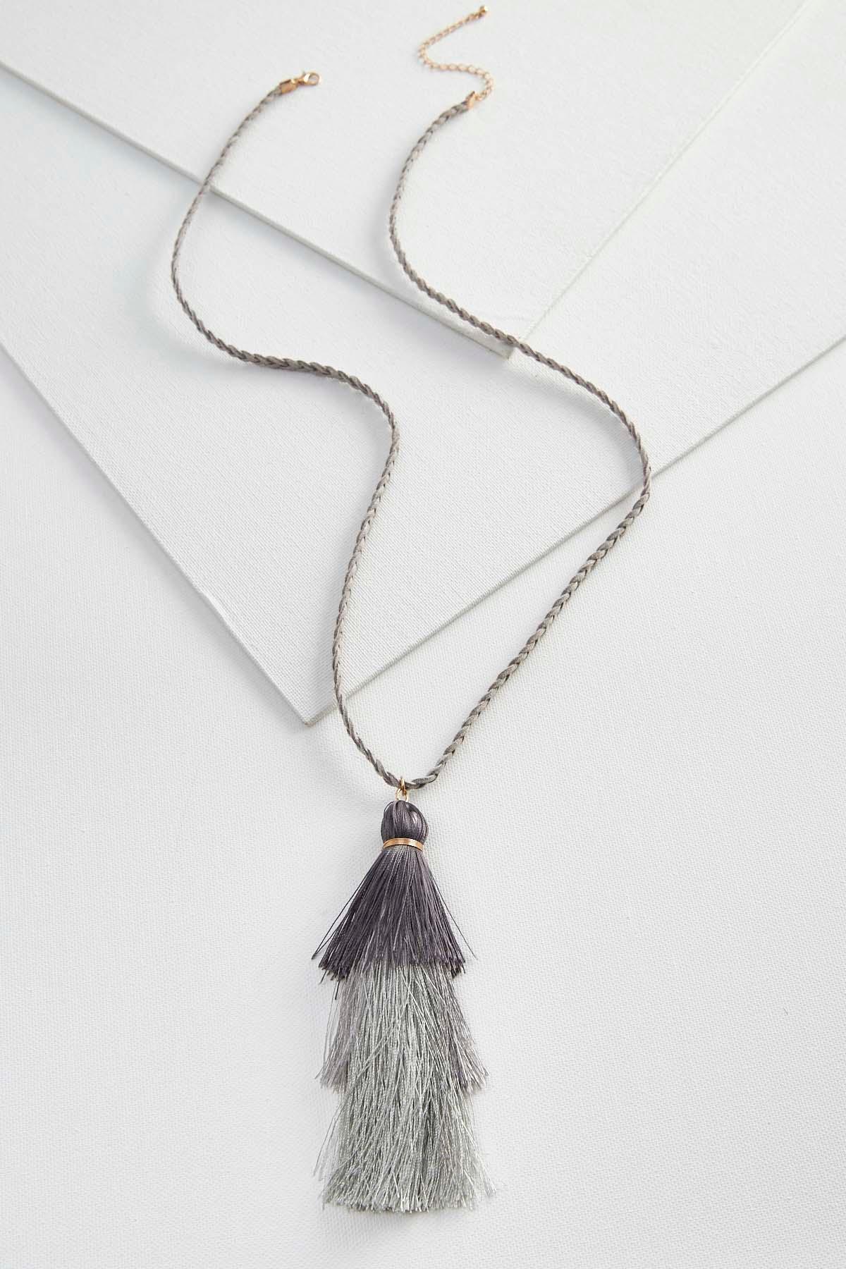 Braided Fringe Tassel Necklace