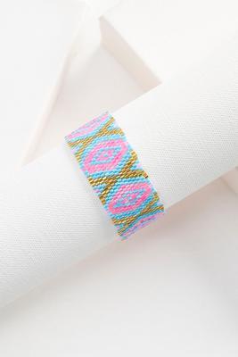 seed bead pull tie tassel bracelet