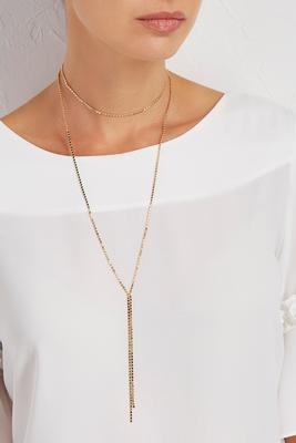 flat bead y-neck choker duo