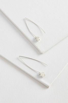 wire disc drop earrings