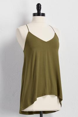 triangle back high-low tank