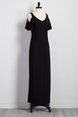 bare shoulder maxi dress