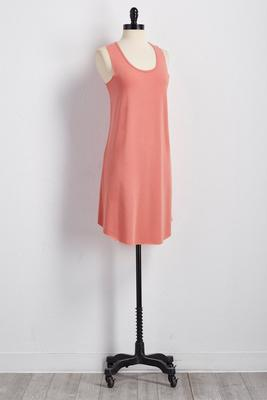 round hem tank dress