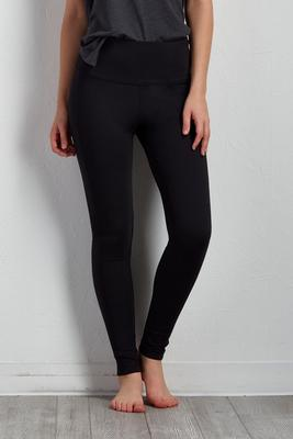 solid active performance leggings
