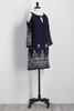 Embroidered Bare Shoulder Shift Dress