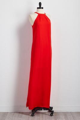 cleo neck maxi dress
