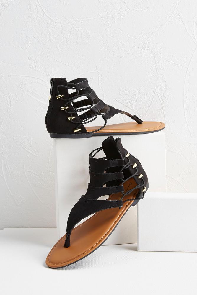 Cord Gladiator Sandals