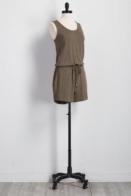 drawstring scoop neck romper