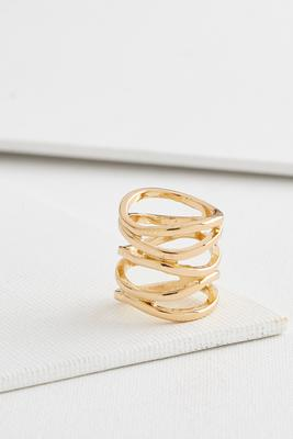 curved open bar ring