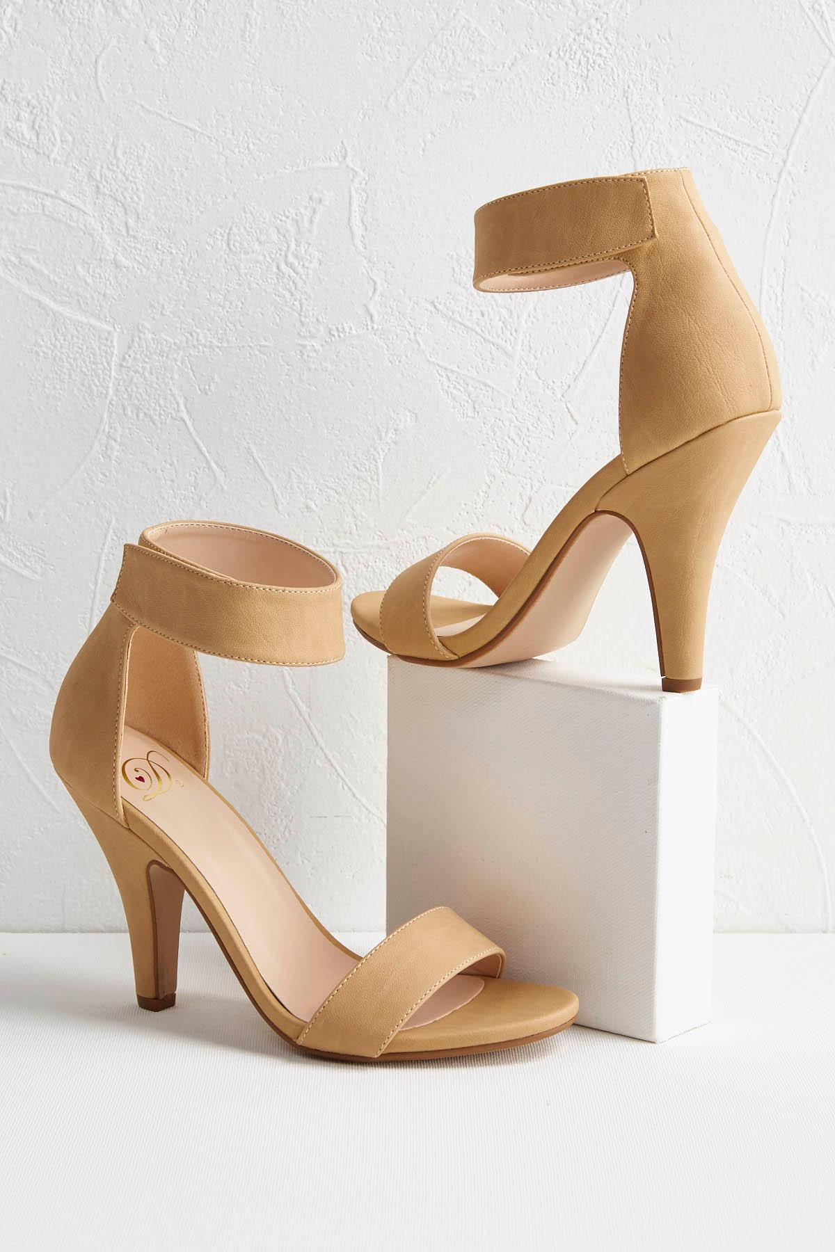 Ankle Strap Velcro Heeled Sandals