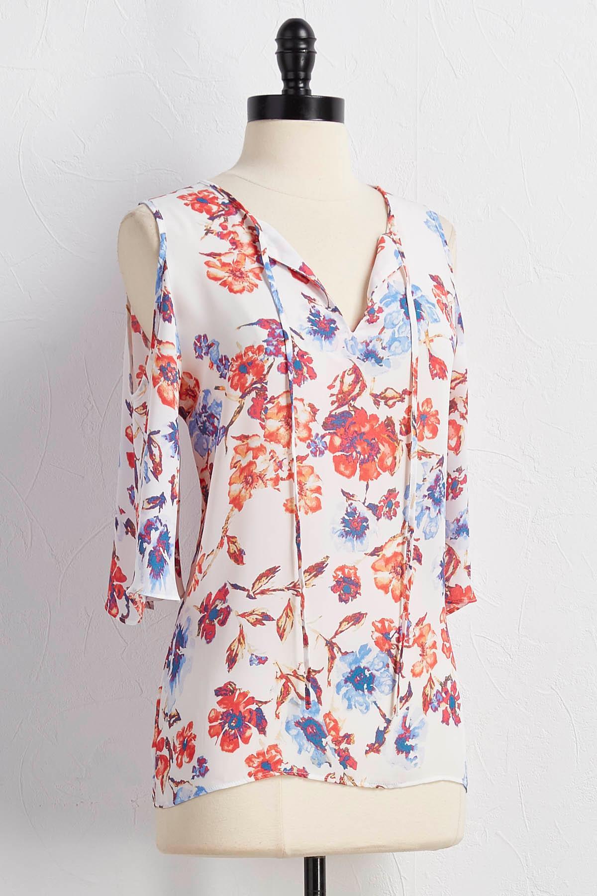 Floral Bare Shoulder Top