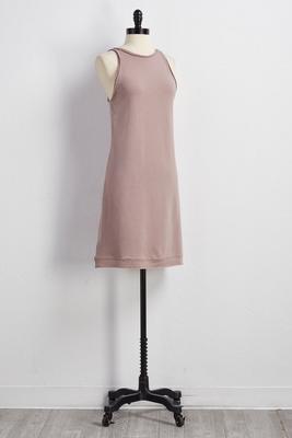 halter rope tie lounge dress
