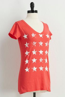 distressed star graphic tee