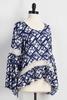 Crochet Inset Bell Sleeve Popover Top