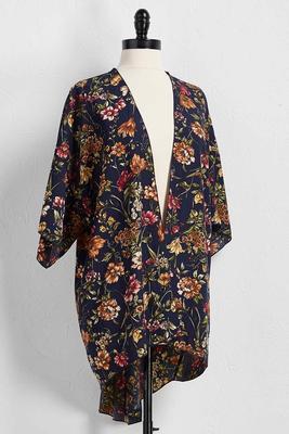floral print kimono cardigan