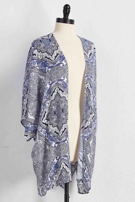 paisley gauze kimono cardigan