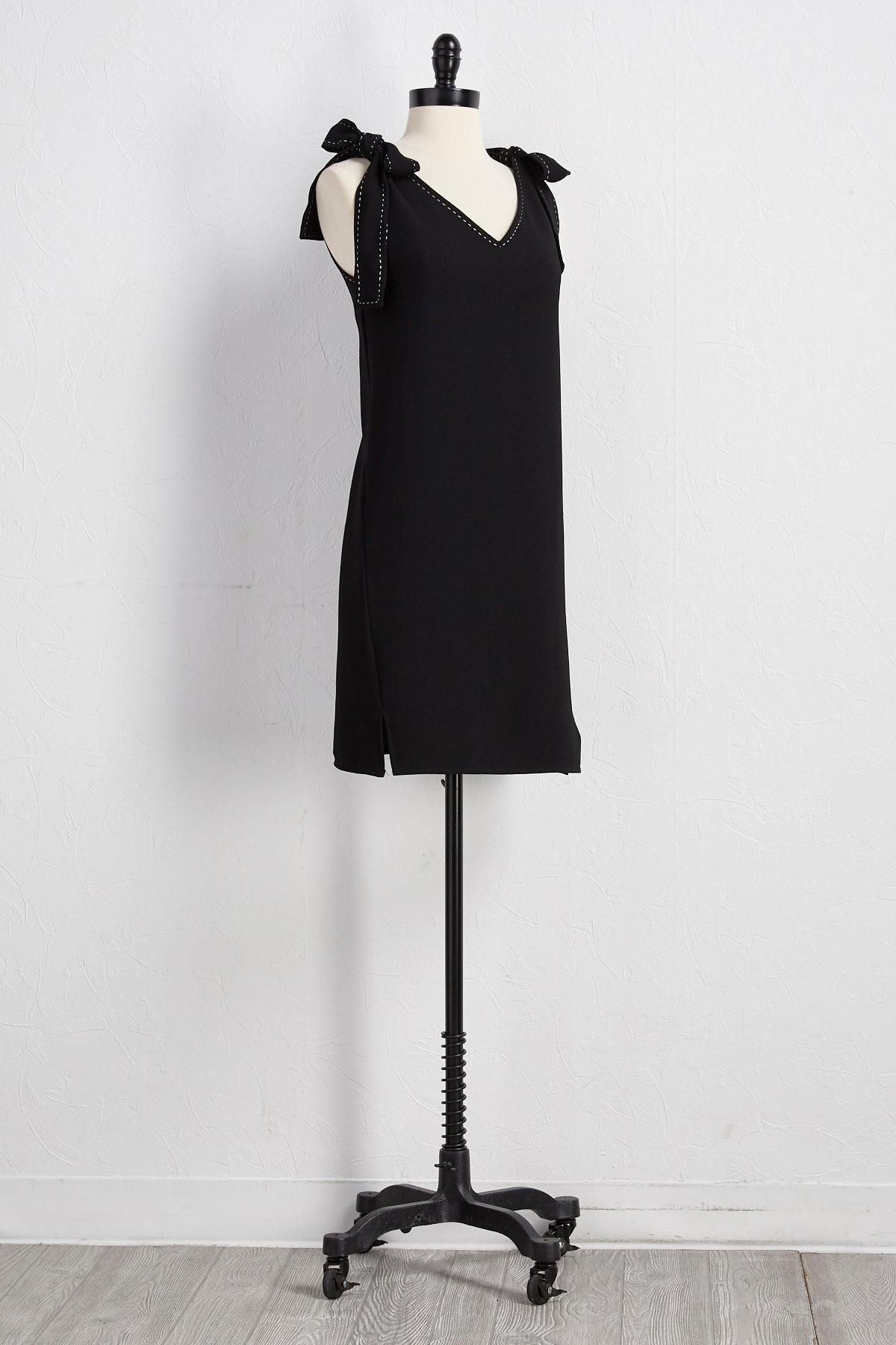 Bow Strap Shift Dress