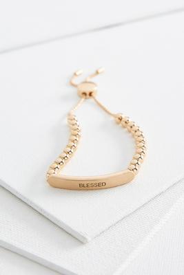 blessed metal bar bracelet