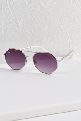 octagon metal sunglasses