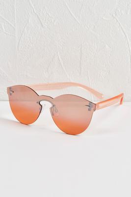 cateye mirrored sunglasses