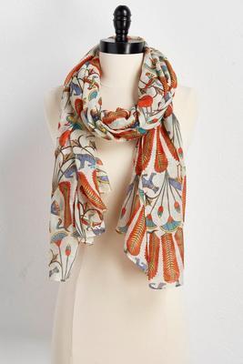 animal kingdom oblong scarf