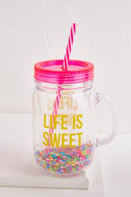 life is sweet mason jar tumbler