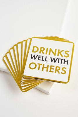 drinks well with others coasters