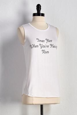 time flies graphic tank